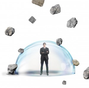 Purchased Graphic__Crystal Ball Protected Business Man 04015